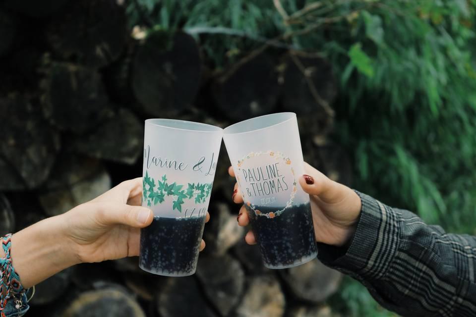 Wobz - Gobelets et verres personnalisés