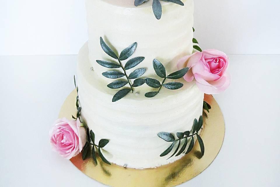 Gâteau de mariage floral