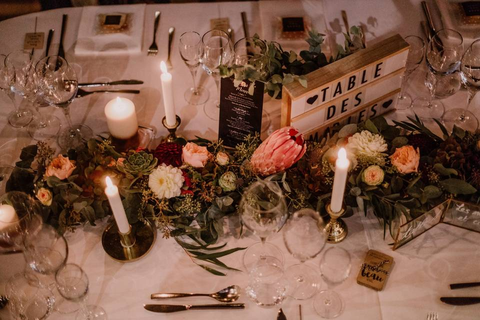 Centre de table mariée
