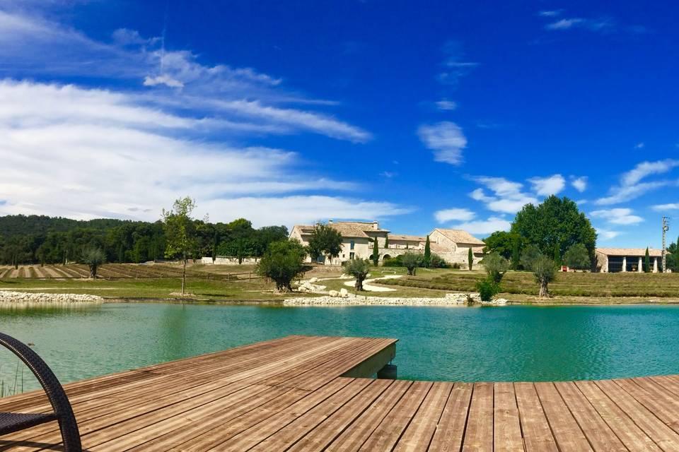 Vu du lac à Patras
