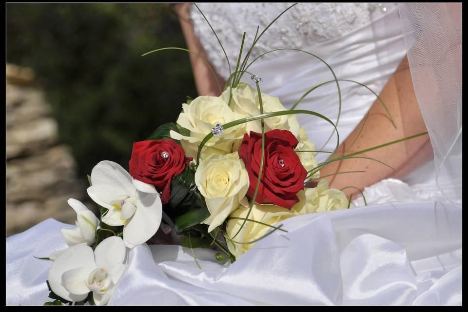 Roses, orchidées et strass