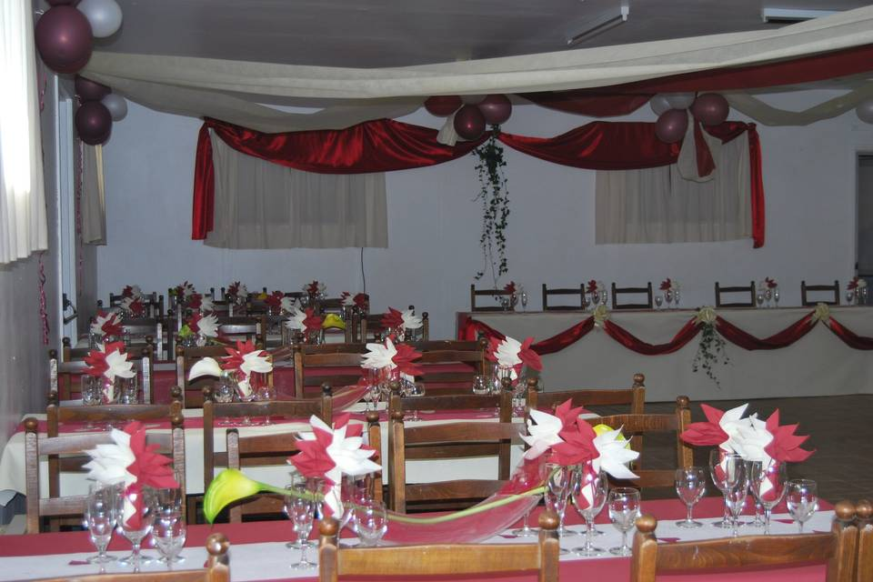 Salle décorée