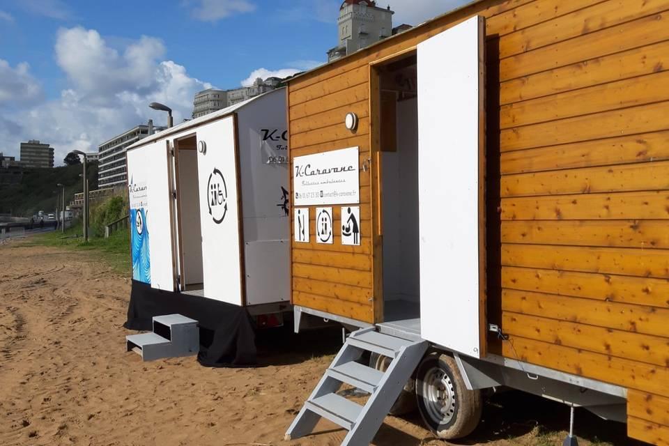 Exemple installation sur plage