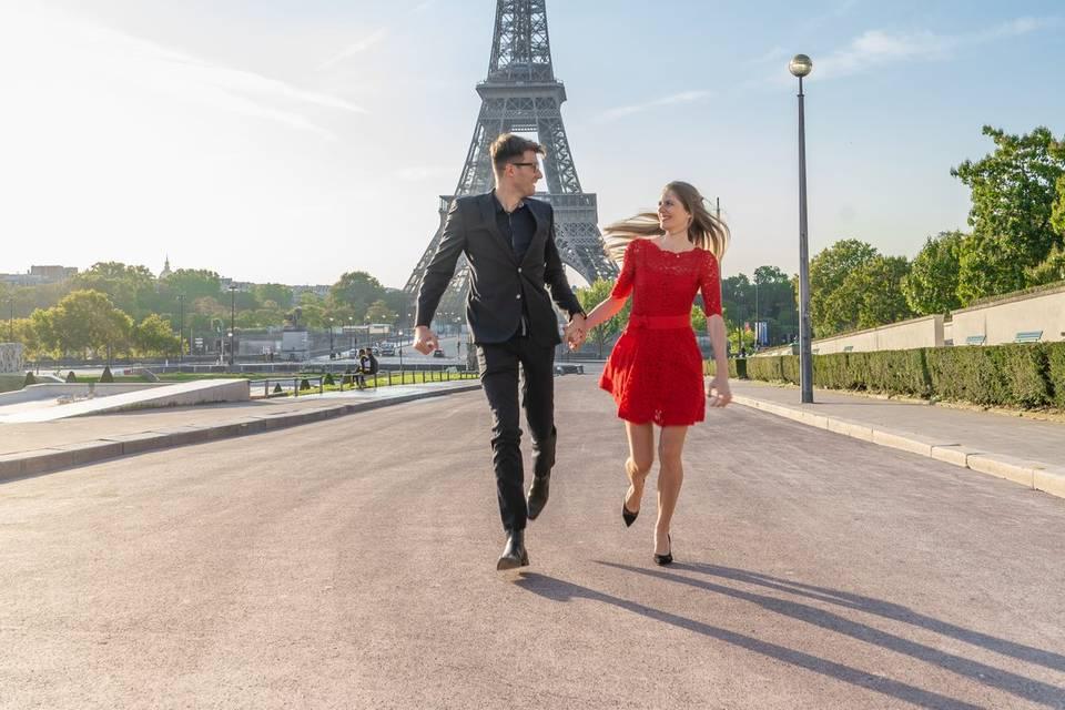 Shooting mariage Tour Eiffel