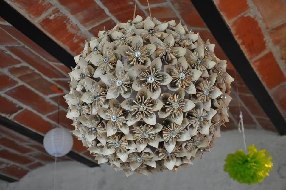 Boule fleurs 80 cm
