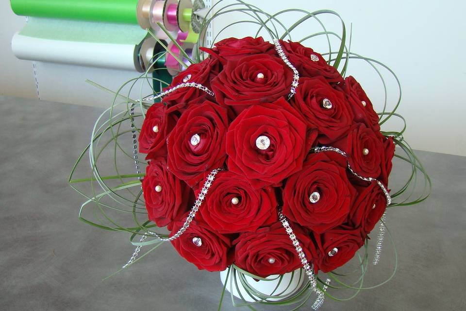 Bouquet roses rouge