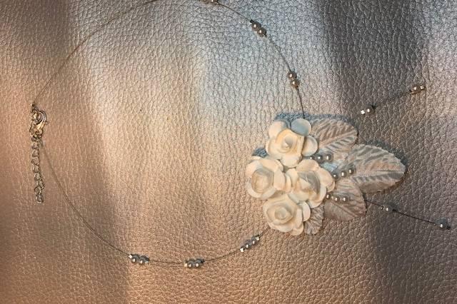 Collier marié fleurs