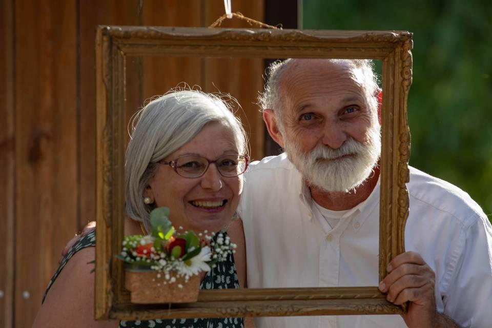 Portraits de couple encadré