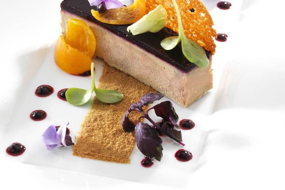 Compression de foie gras à la gelée de Cassis de Bourgogne