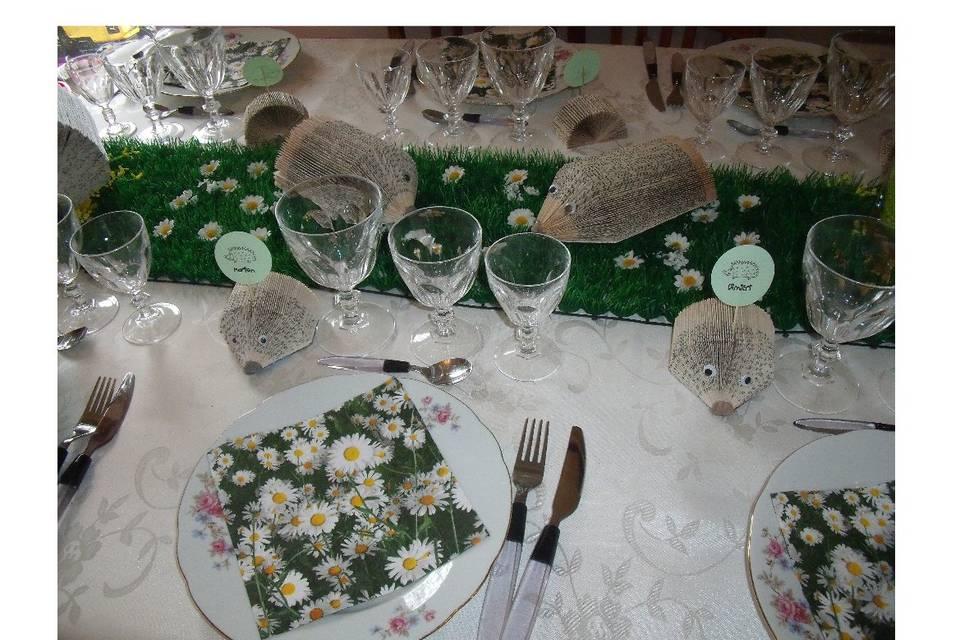Table hérisson recyclage