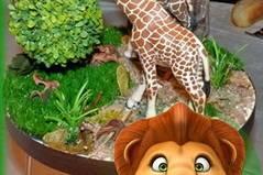 Centre de table girafe