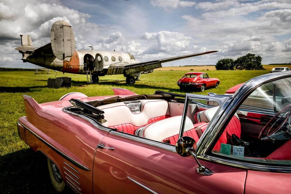 Cadillac 1958 cabriolet rose