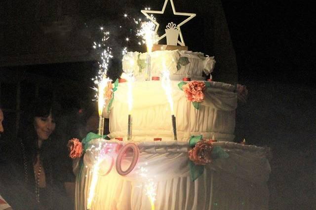 Gâteau géant anniversaire