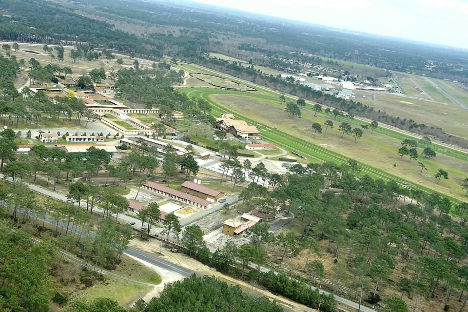 Vue aérienne hippodrome