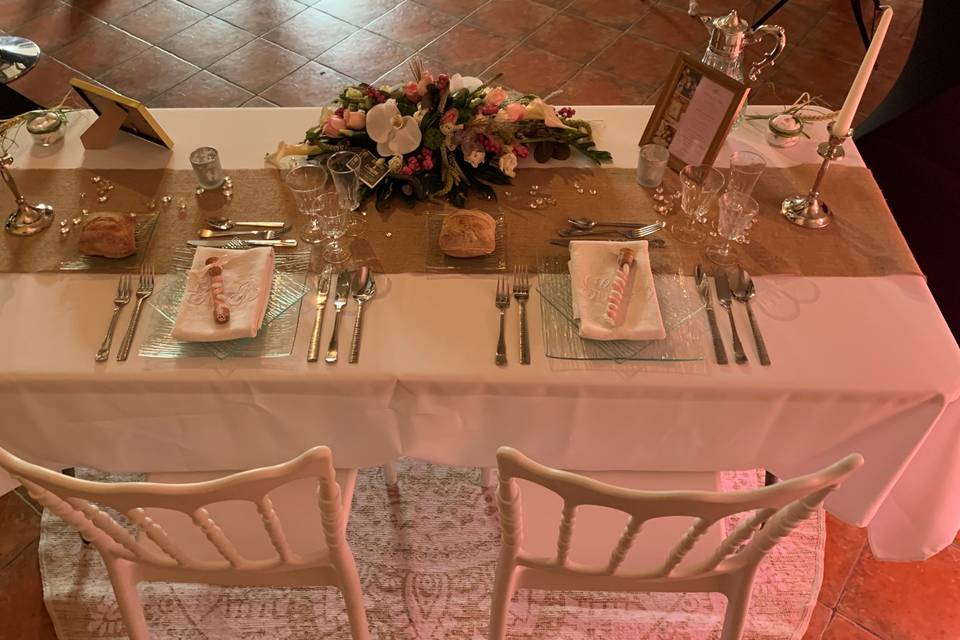 Table mariage champêtre-chic
