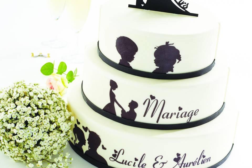 Gâteau glacé personnalisé