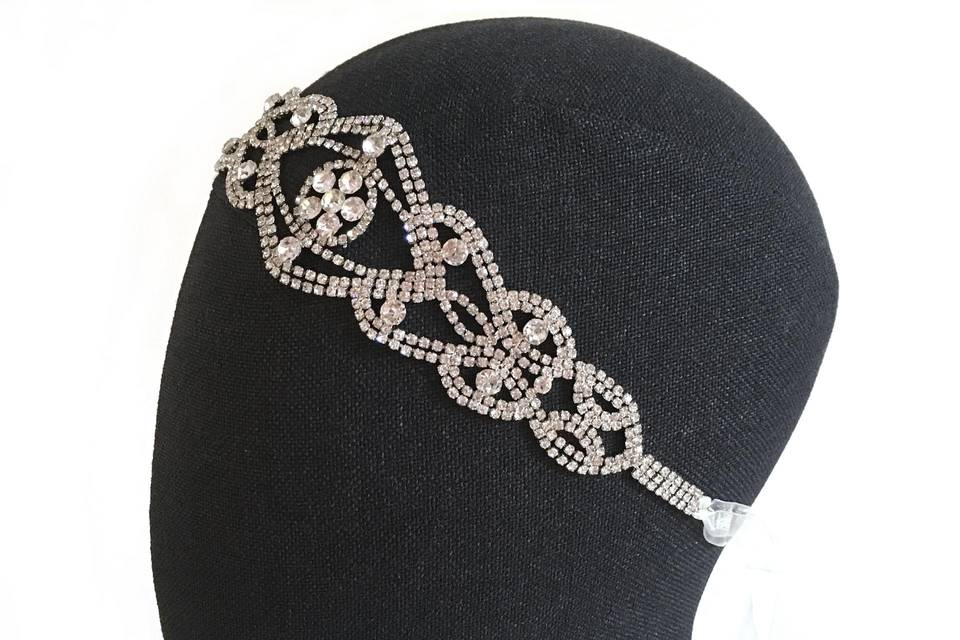 Bandeau bijou mariée cristaux