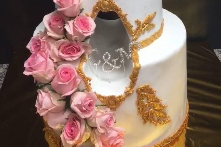 Wedding cake ajouré