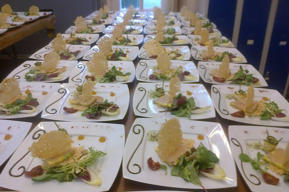 Croquant parmesan et foie gras