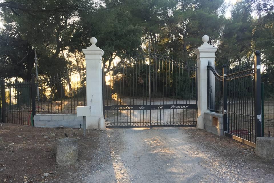 L'entrée du Domaine