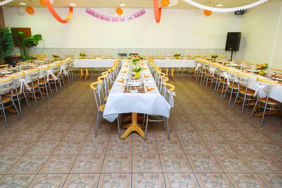 Salle de restaurant mariage