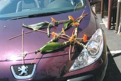 Décoration de voiture pour mariages