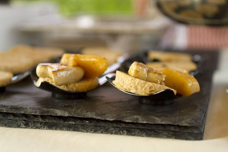 Foie gras poêlé apéritif