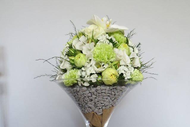 Boule de fleurs vase à martini