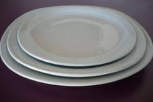 Assiettes blanches
