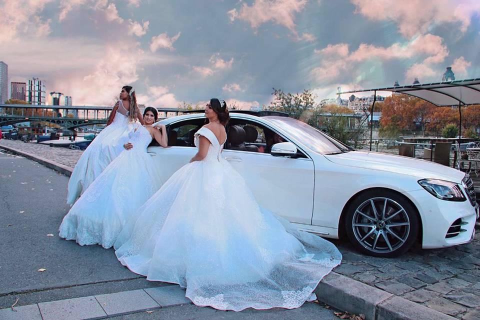 Mercedes classe s blanche