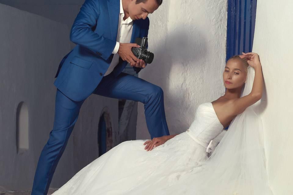 Costume bleu mariage