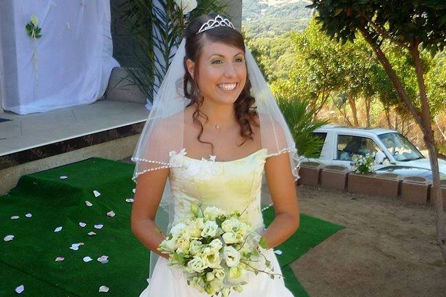 Mariée : theme vert anis