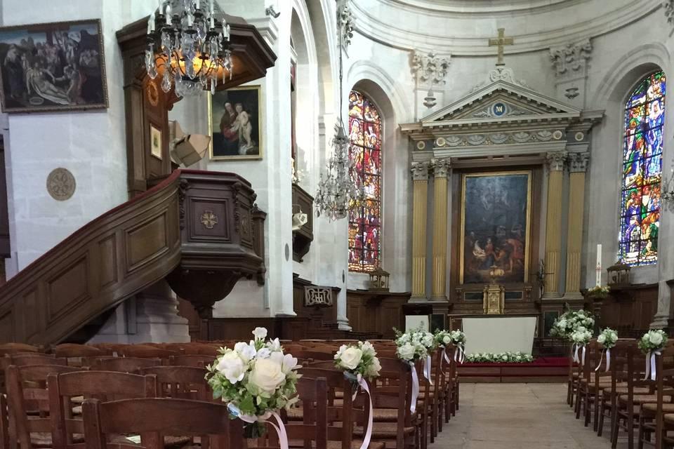 Banc église