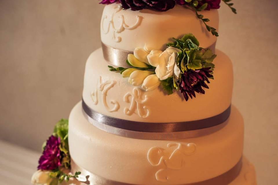 Myriam & Adrian Wedding Cake