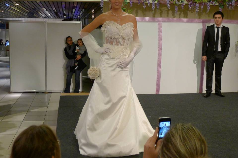 Maryse-M - robe bustier dentelle
