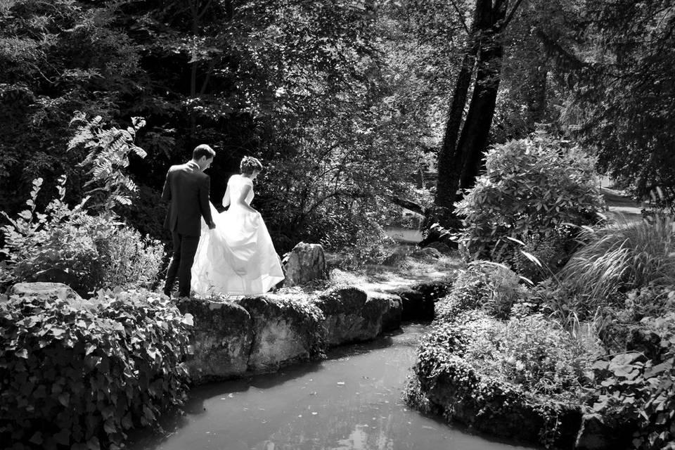 Lumière sur les mariés