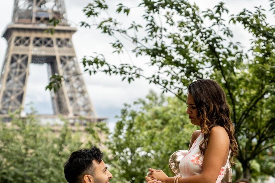 Demande en mariage - Trocadéro