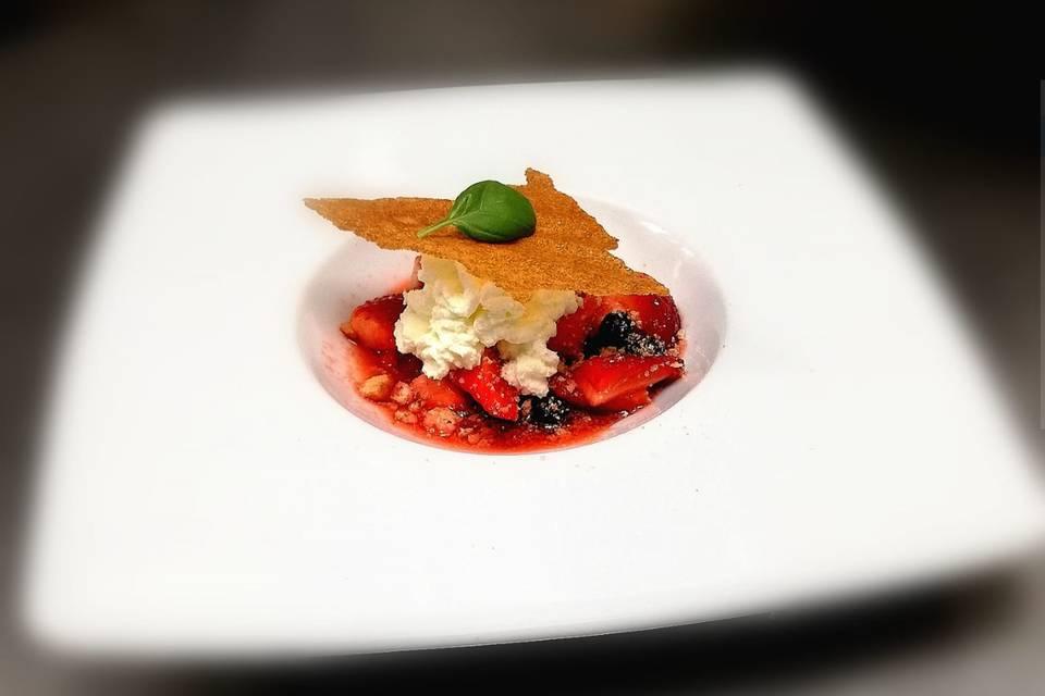 Delice de fraise au basilic