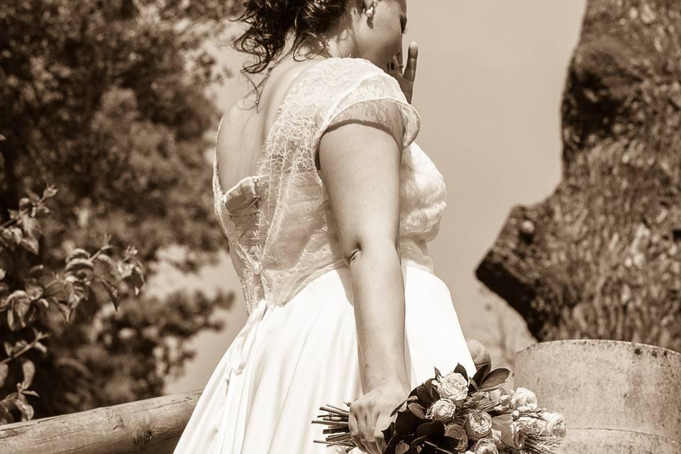 Mariage bouquet robe