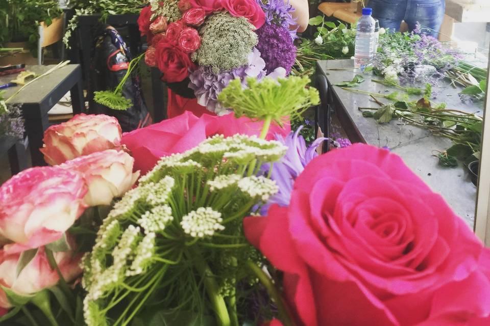 Bouquet champetre flashy