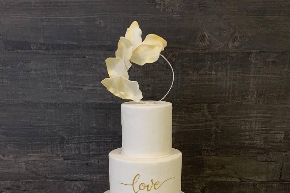 Wedding cake épuré