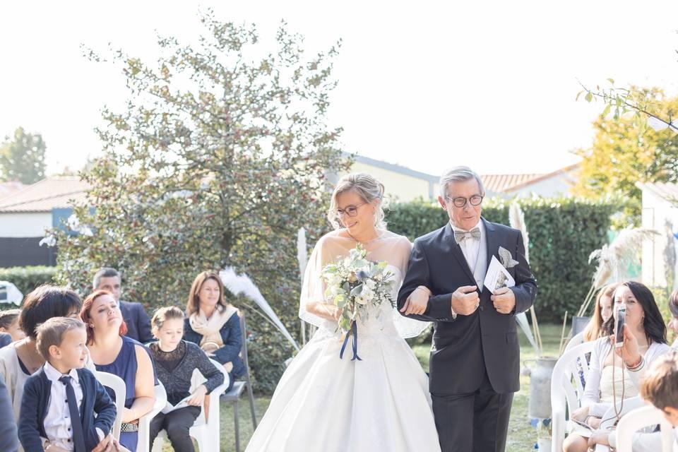 Entrée mariée cérémonie laïque