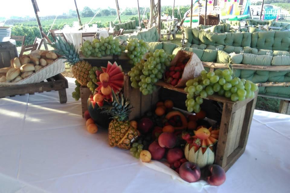 Cascade de fruits frais