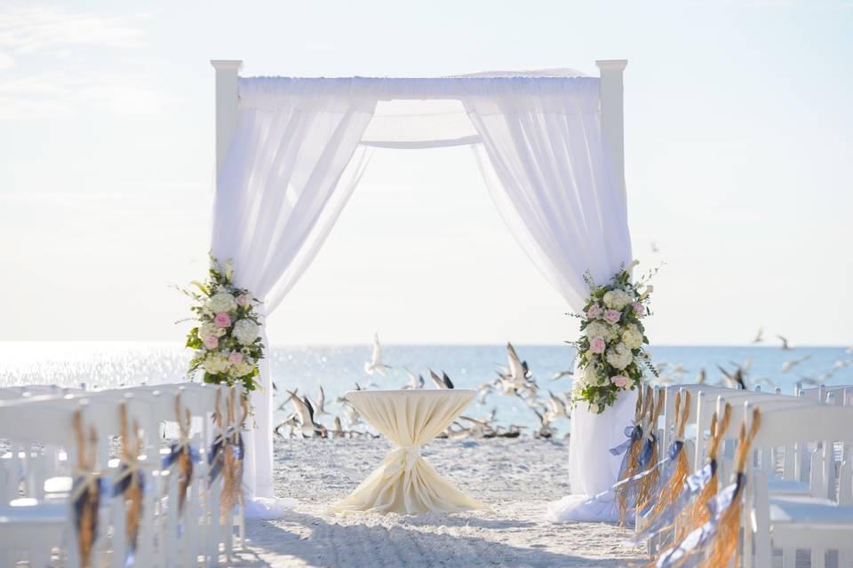 Un mariage en bord de mer.