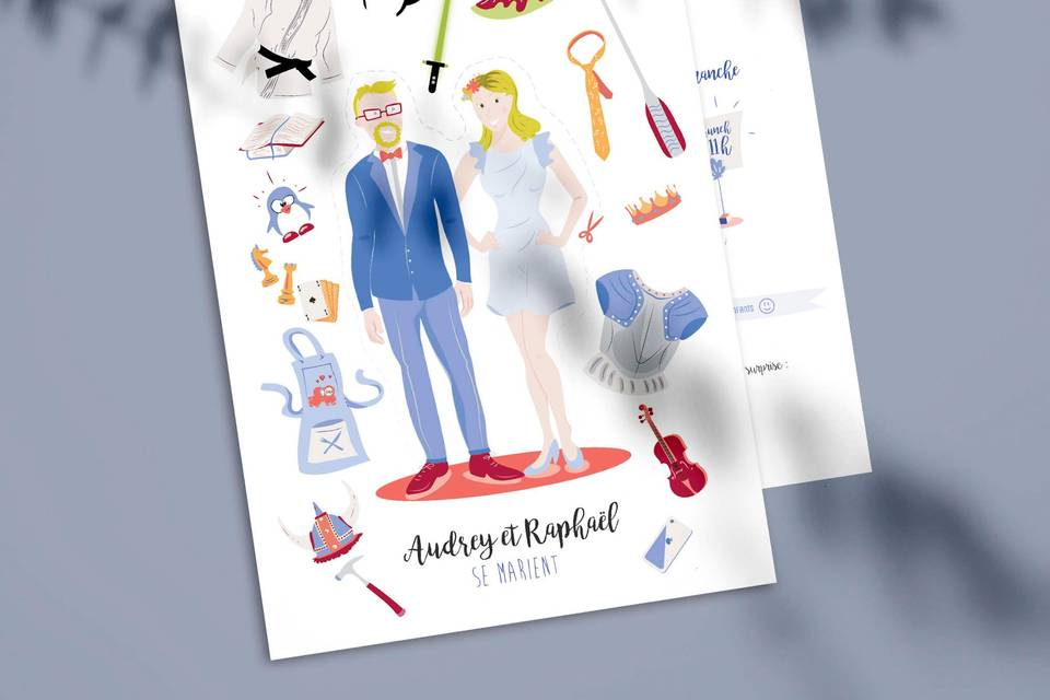 Faire-part Audrey et Raphaël