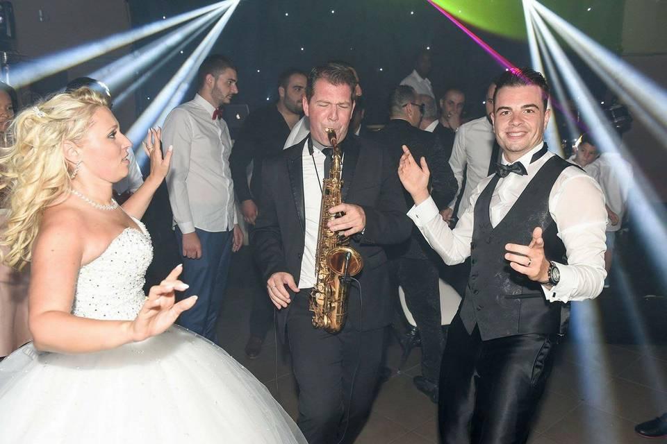 Sax live mariage
