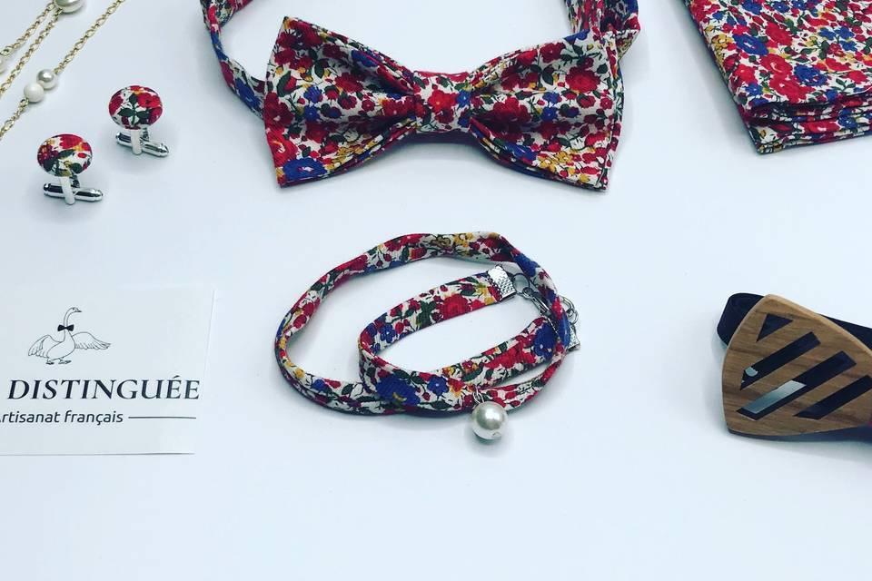 Bracelet en tissu Liberty