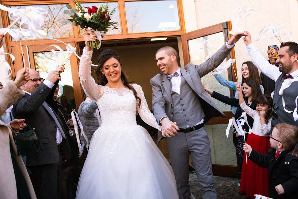 Bouquet mairie mariés