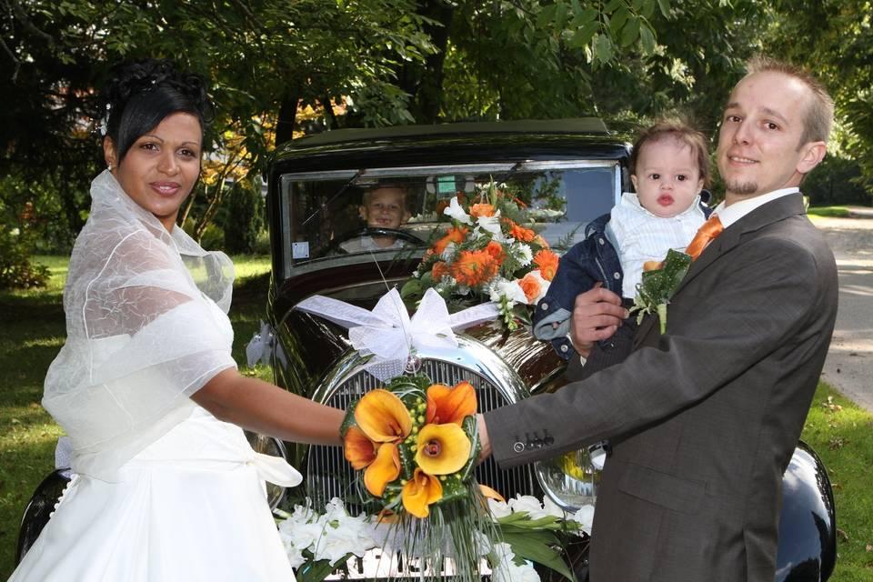 Portrait mariage avec toute la famille