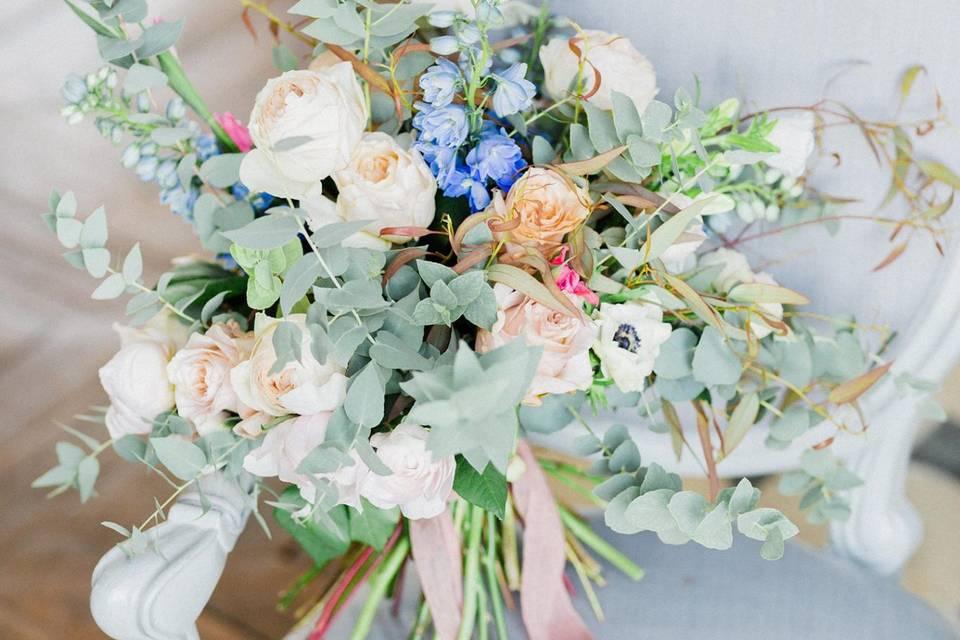 Mariage élégant rose poudré